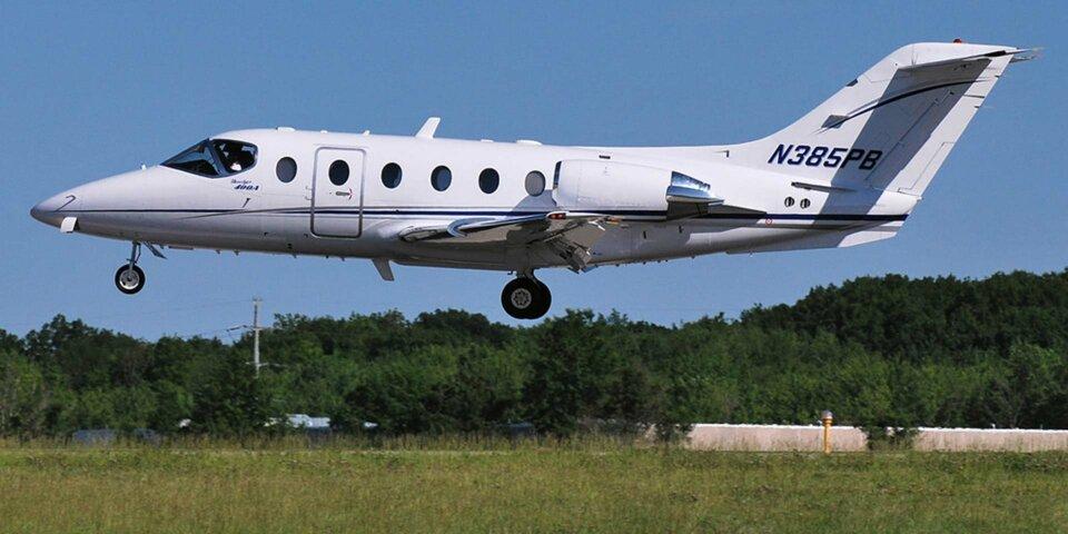 Beechcraft Beechjet landing tail number N385PB