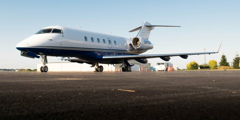Bombardier Challenger 300 on tarmac