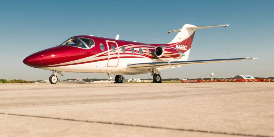 Beechcraft Beechjet 400A private jet on tarmac
