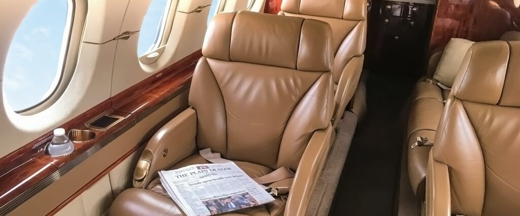 Hawker 900XP interior comfortable seat