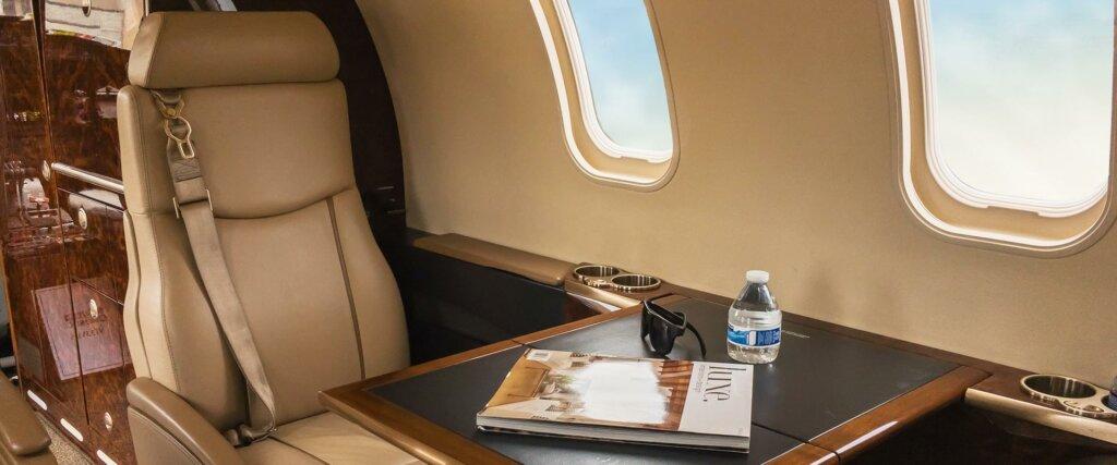Bombardier Learjet 40XR interior cabin
