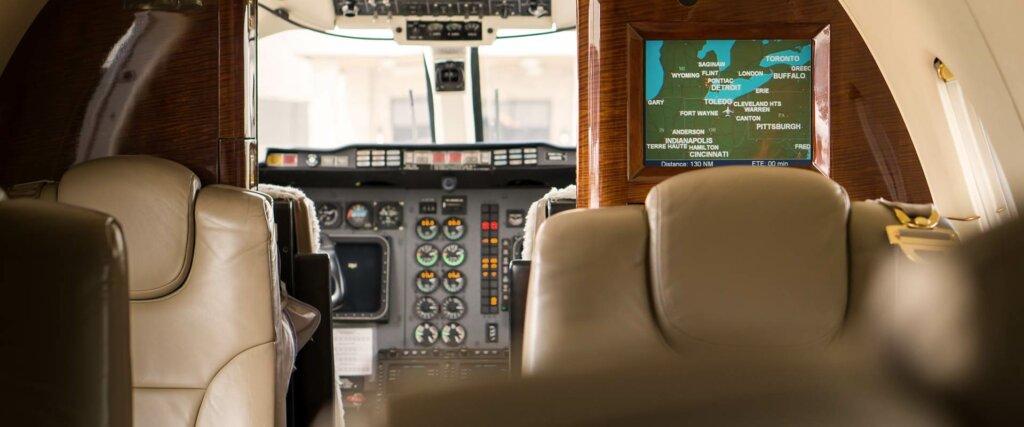 Beechcraft Beechjet 400A interior cabin