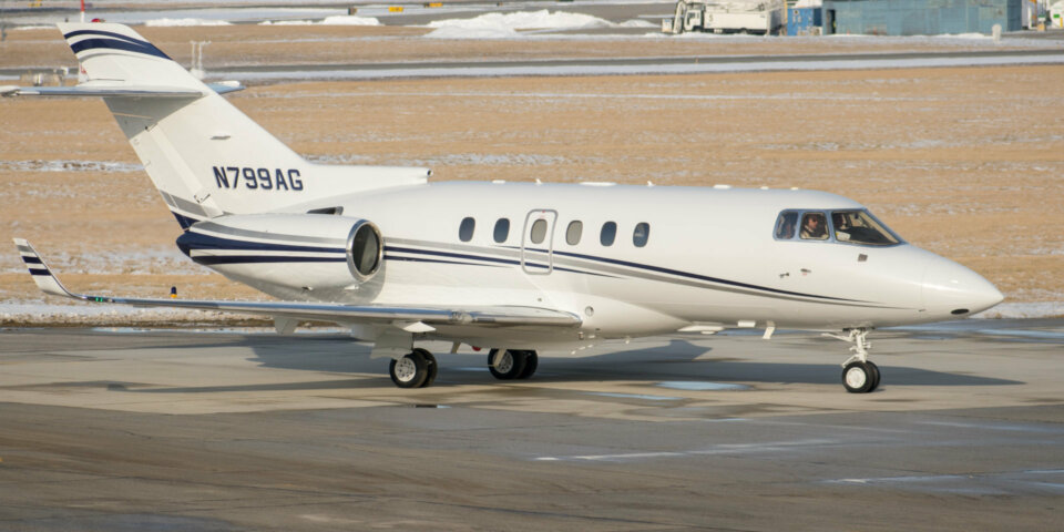 Hawker 900XP Private Jet Tail Number N799AG