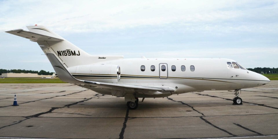 Hawker 850XP Private Jet Tail Number N159MJ