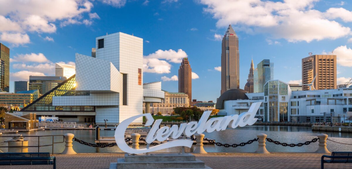 Photo of Cleveland skyline.